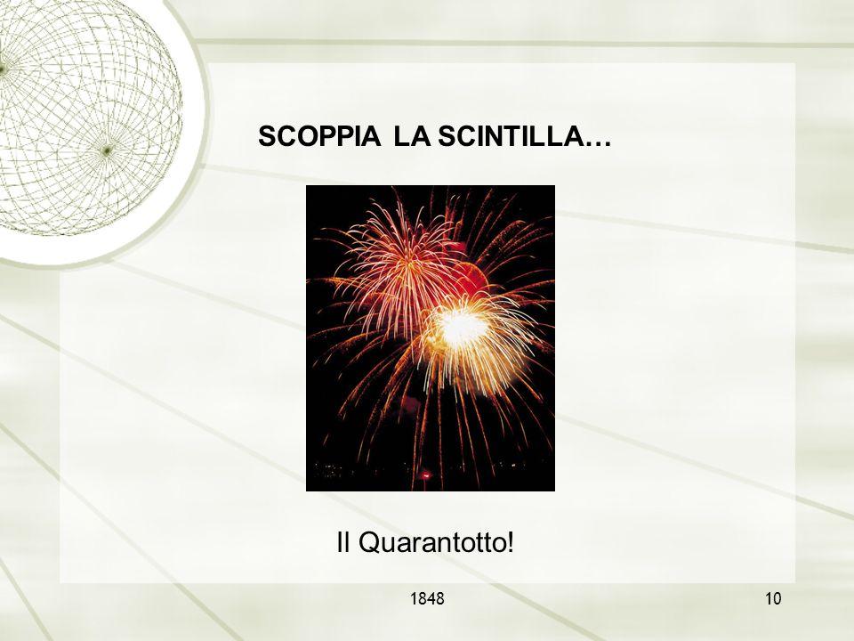 SCOPPIA LA SCINTILLA… Il Quarantotto! 1848