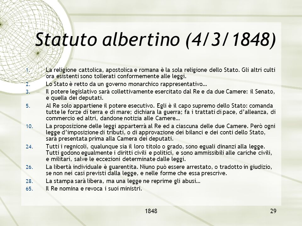 Statuto albertino (4/3/1848)