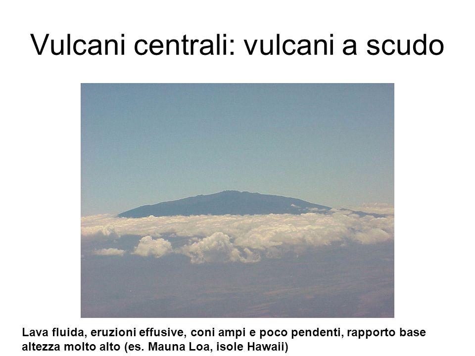 Vulcani centrali: vulcani a scudo