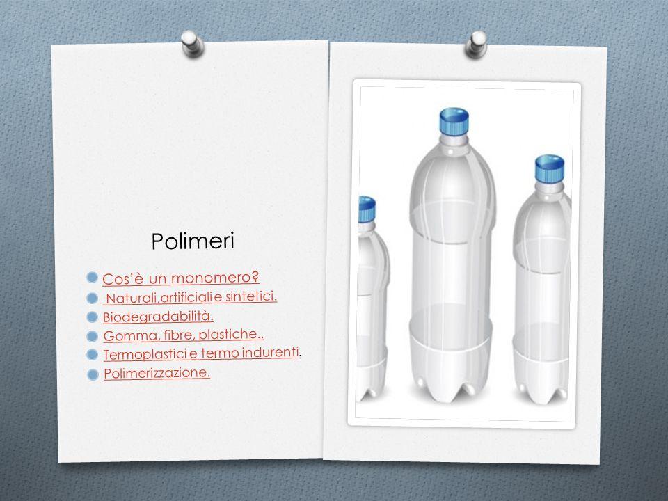 Polimeri Cos'è un monomero Naturali,artificiali e sintetici.