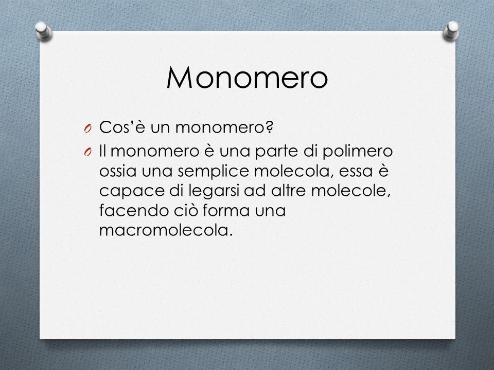 Monomero Cos'è un monomero