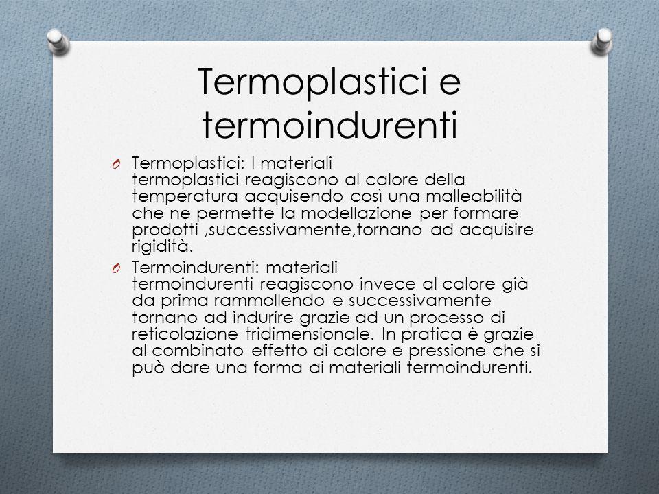 Termoplastici e termoindurenti