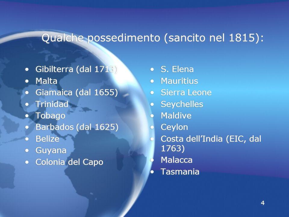 Qualche possedimento (sancito nel 1815):