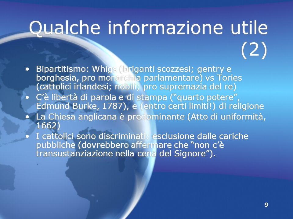 Qualche informazione utile (2)