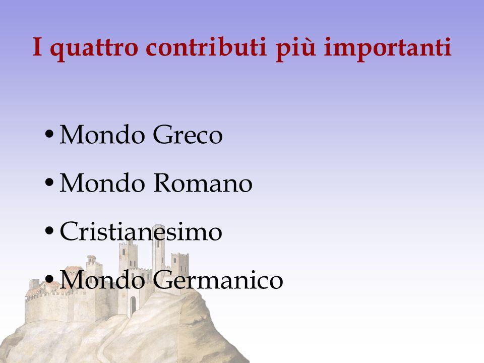 I quattro contributi più importanti