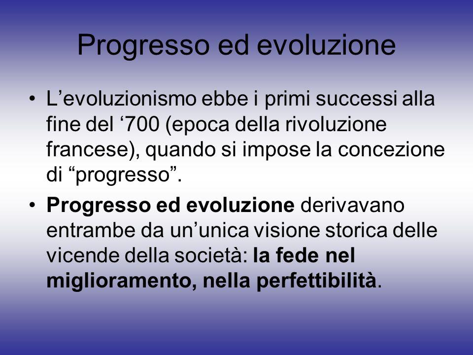 Progresso ed evoluzione