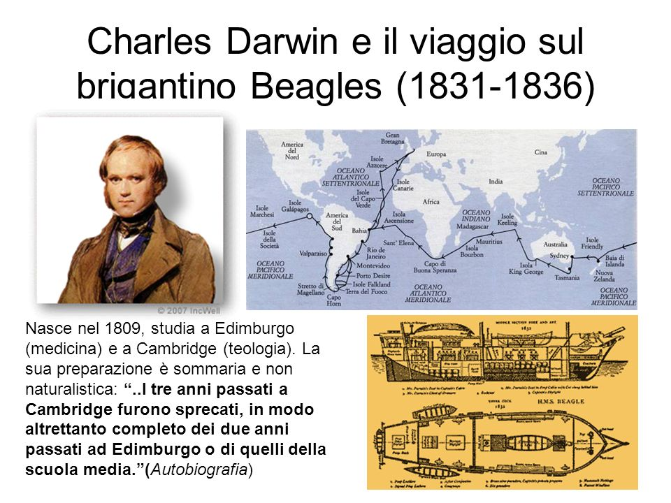 Charles Darwin e il viaggio sul brigantino Beagles (1831-1836)
