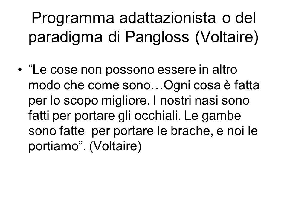 Programma adattazionista o del paradigma di Pangloss (Voltaire)