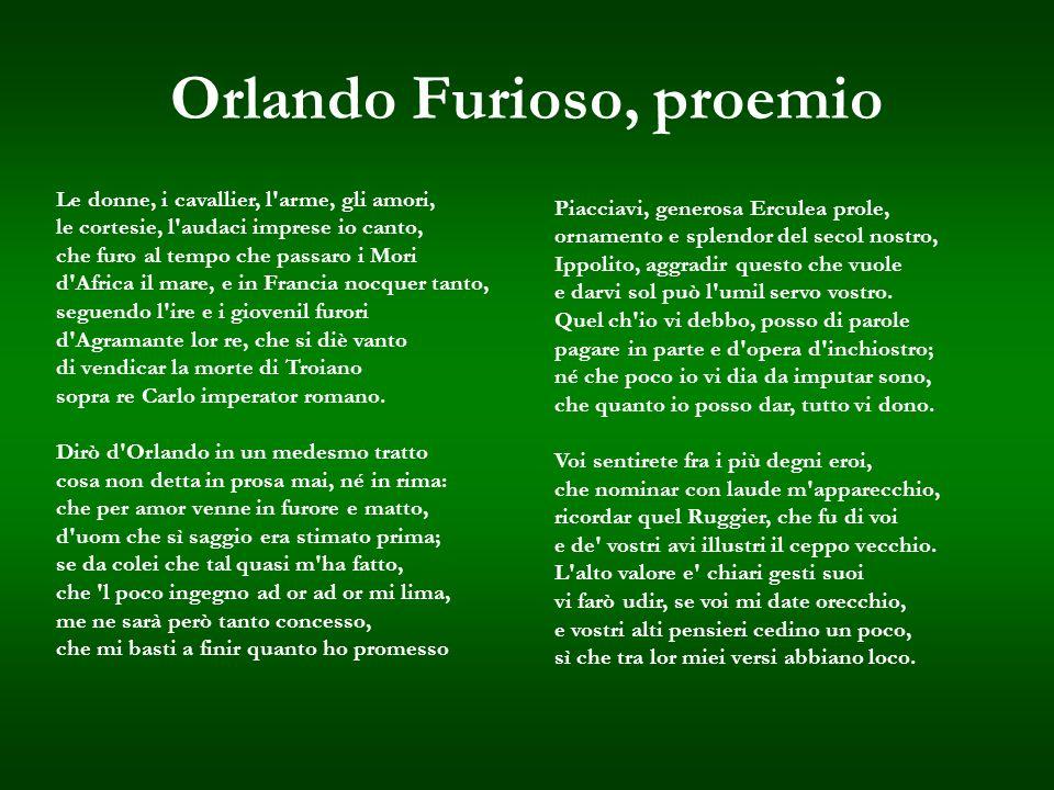 Orlando Furioso, proemio