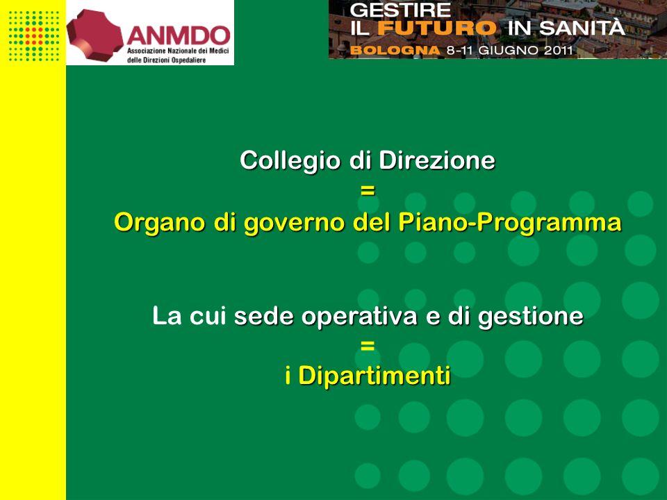 Organo di governo del Piano-Programma