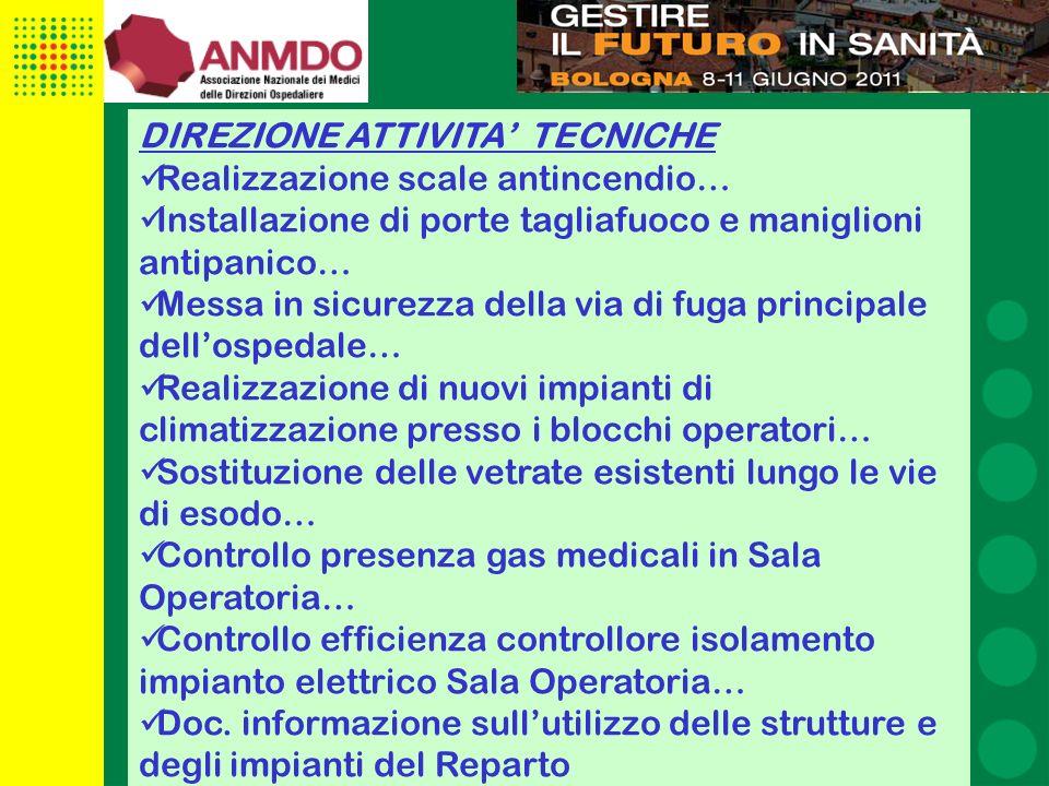 DIREZIONE ATTIVITA' TECNICHE