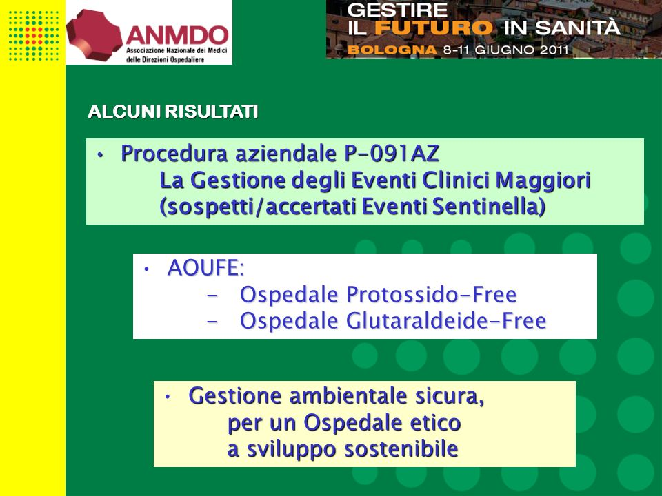 Procedura aziendale P-091AZ La Gestione degli Eventi Clinici Maggiori
