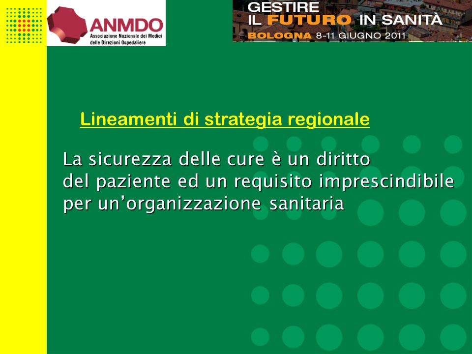Lineamenti di strategia regionale
