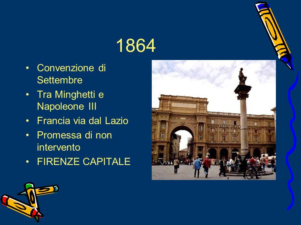 1864 Convenzione di Settembre Tra Minghetti e Napoleone III