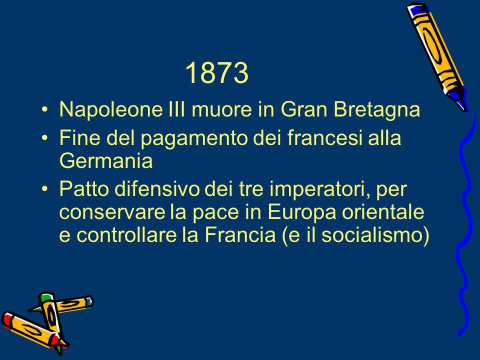 1873 Napoleone III muore in Gran Bretagna
