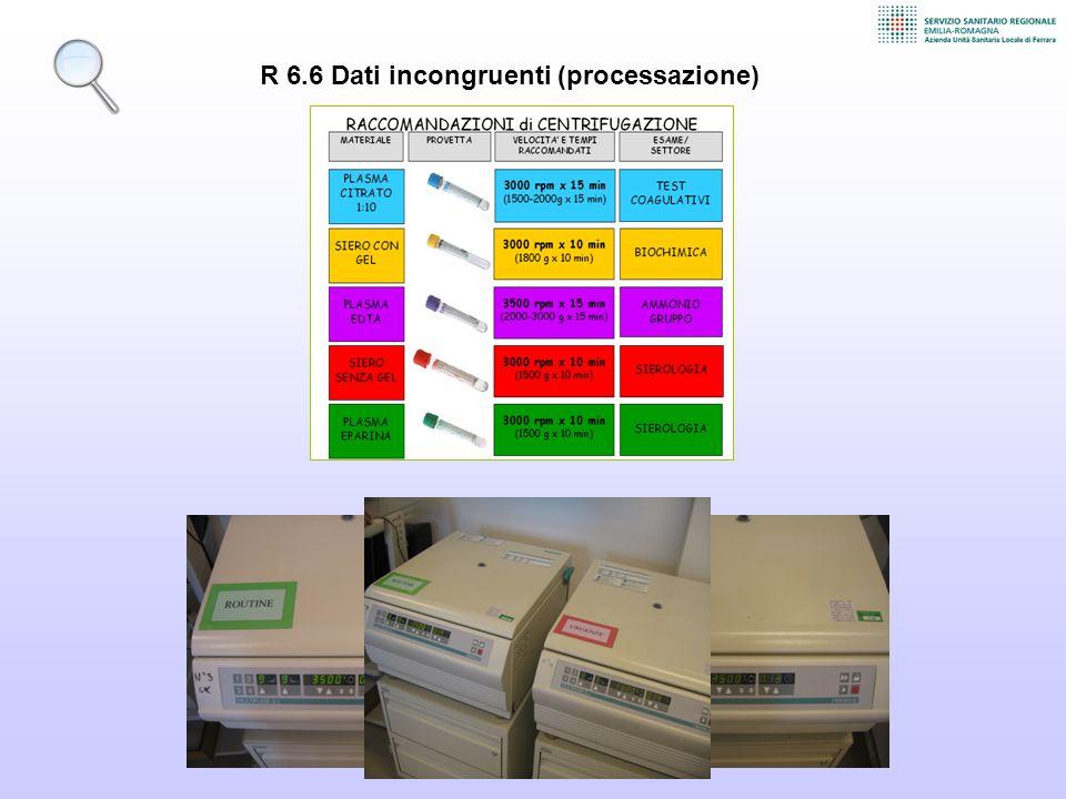 R 6.6 Dati incongruenti (processazione)