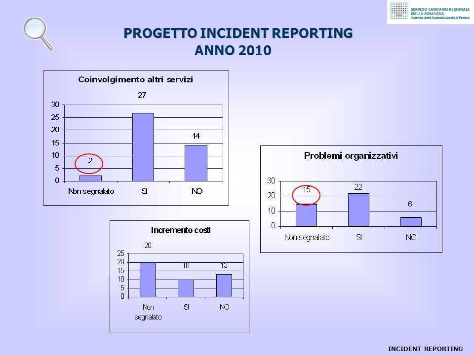 PROGETTO INCIDENT REPORTING ANNO 2010