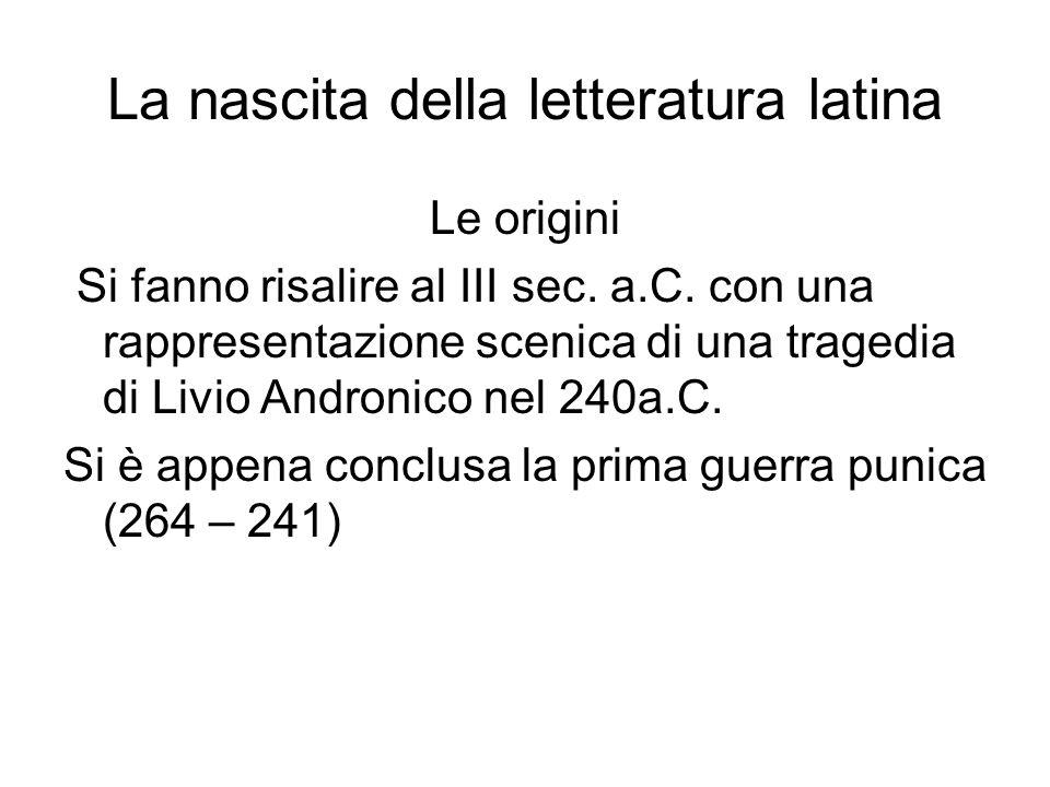 La nascita della letteratura latina