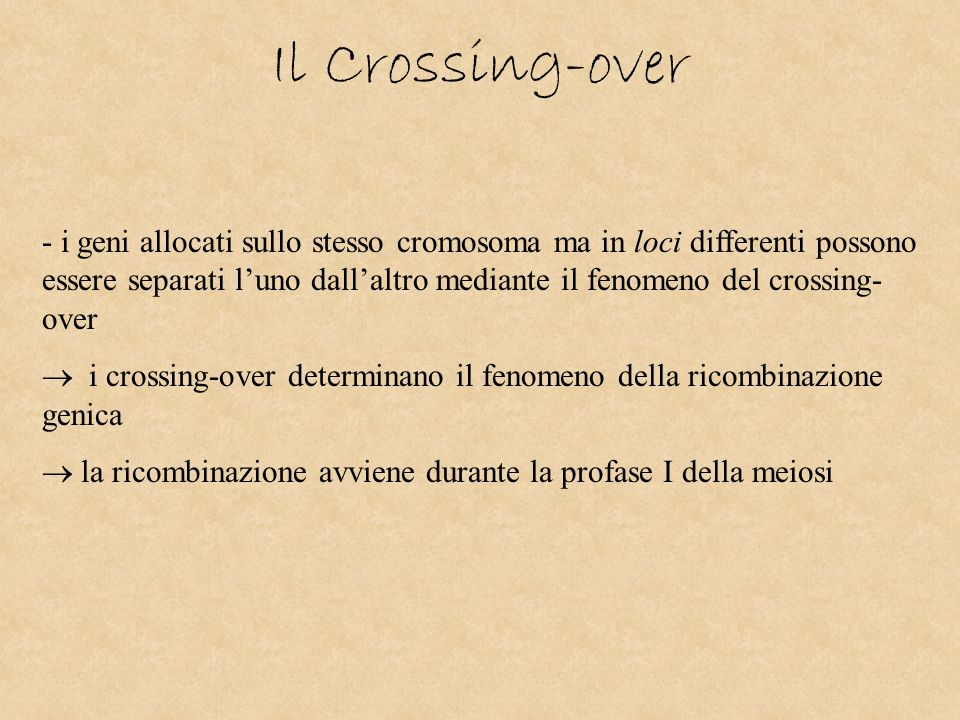 Il Crossing-over
