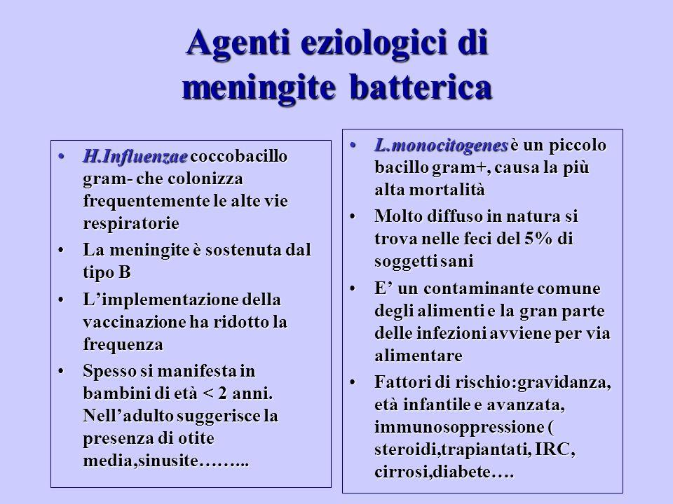 Agenti eziologici di meningite batterica