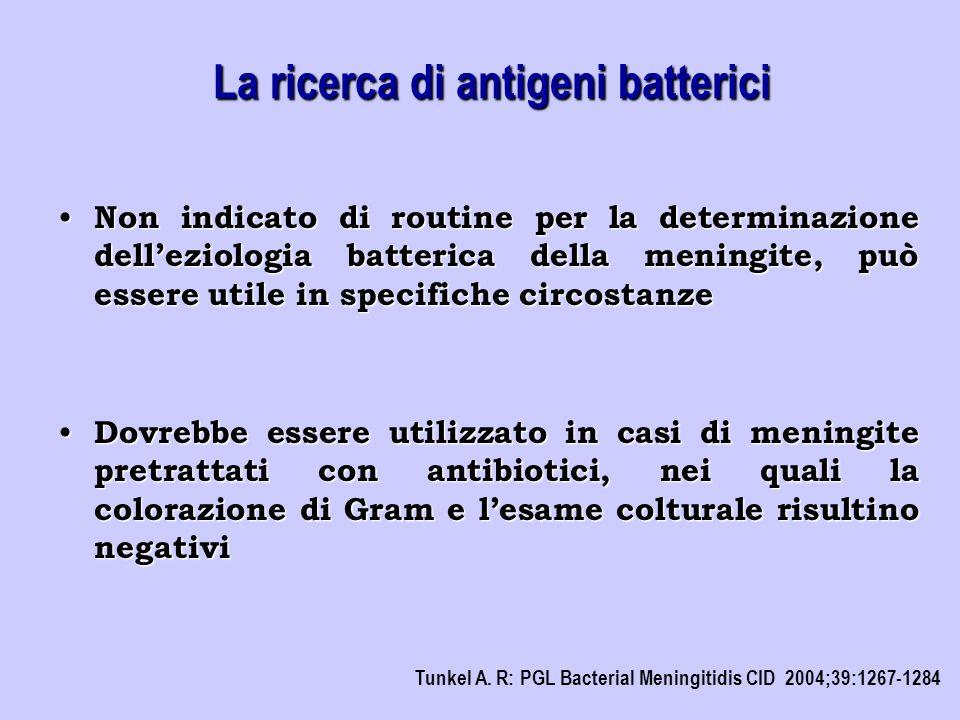 La ricerca di antigeni batterici