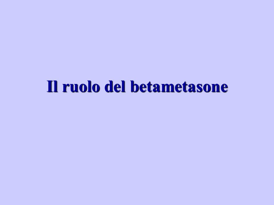 Il ruolo del betametasone