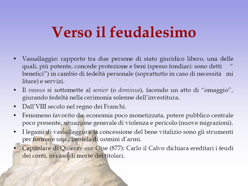Verso il feudalesimo