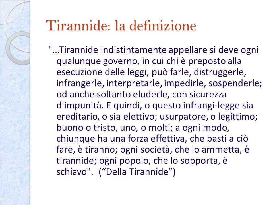 Tirannide: la definizione