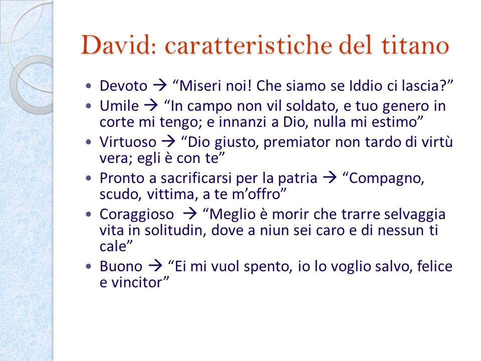 David: caratteristiche del titano