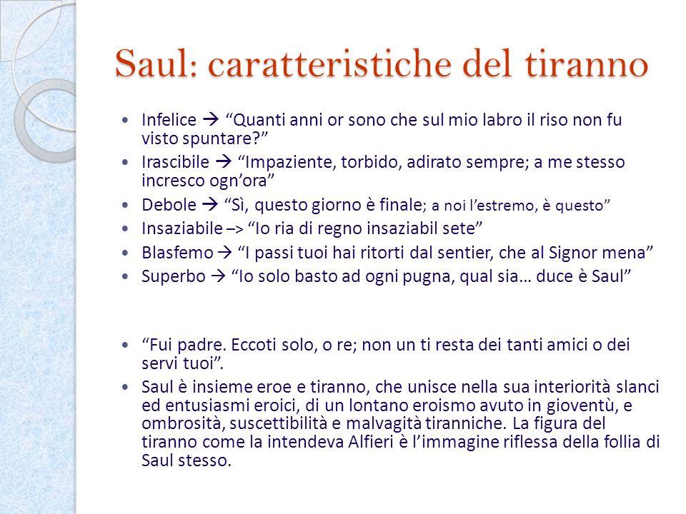 Saul: caratteristiche del tiranno