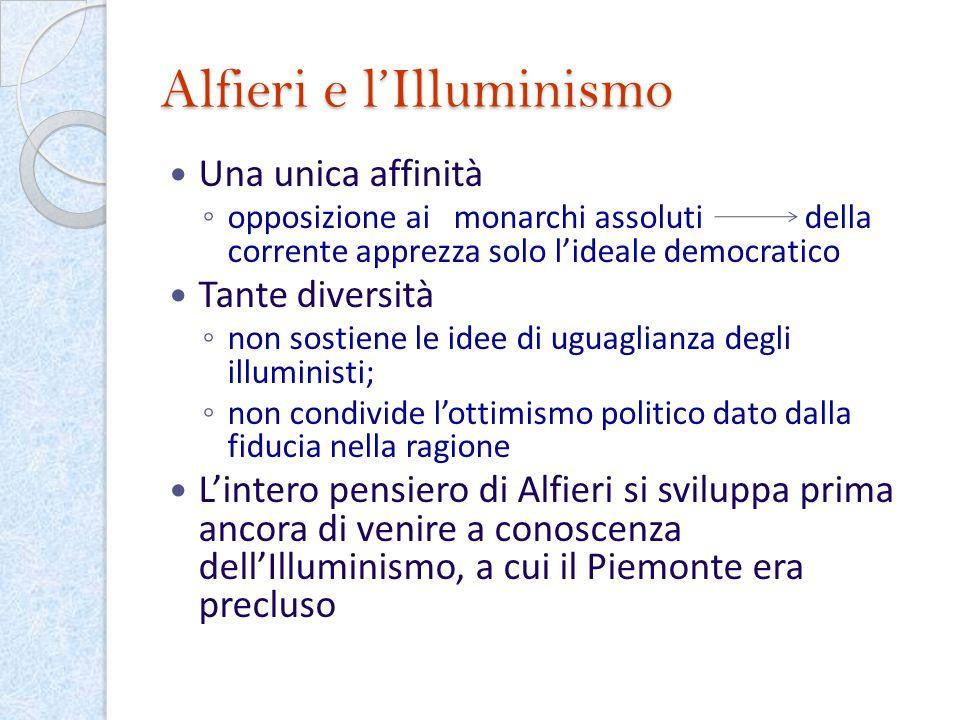 Alfieri e l'Illuminismo