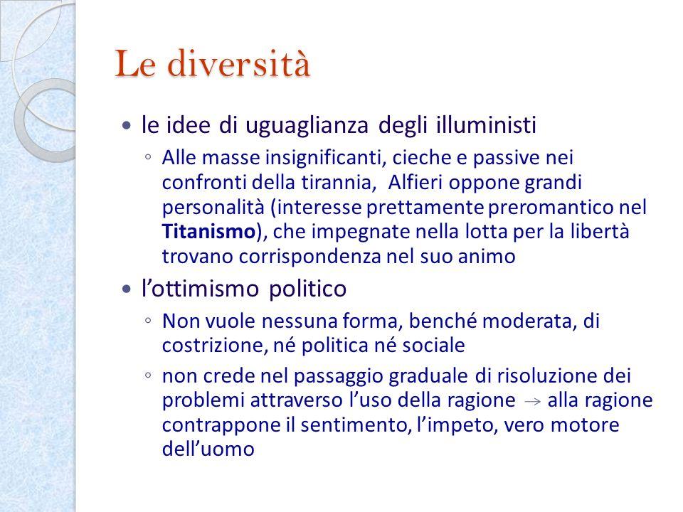 Le diversità le idee di uguaglianza degli illuministi