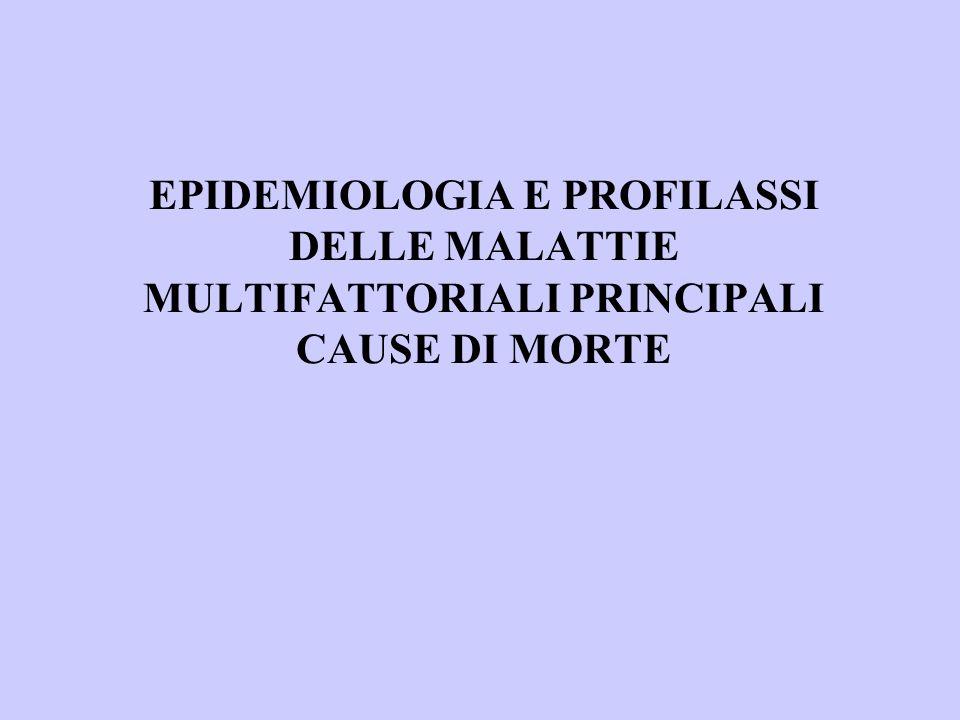 EPIDEMIOLOGIA E PROFILASSI DELLE MALATTIE MULTIFATTORIALI PRINCIPALI CAUSE DI MORTE