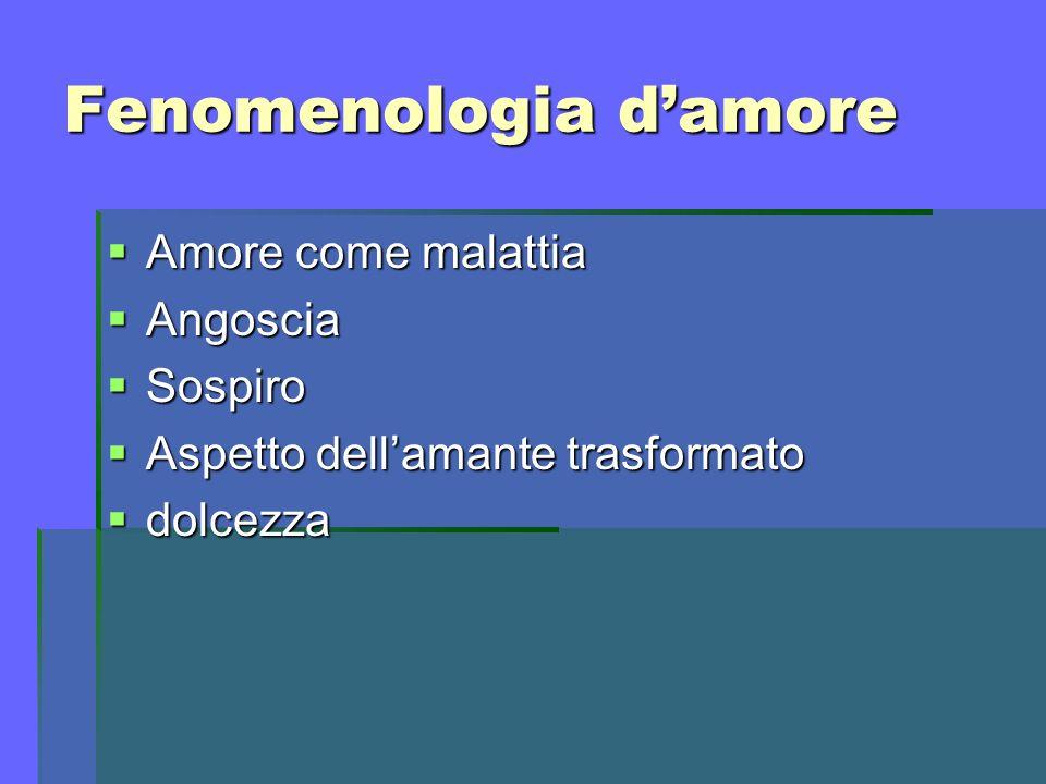 Fenomenologia d'amore