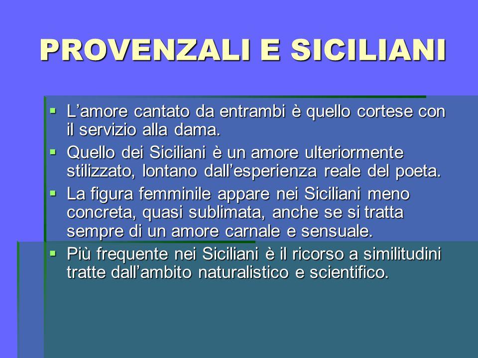 PROVENZALI E SICILIANI