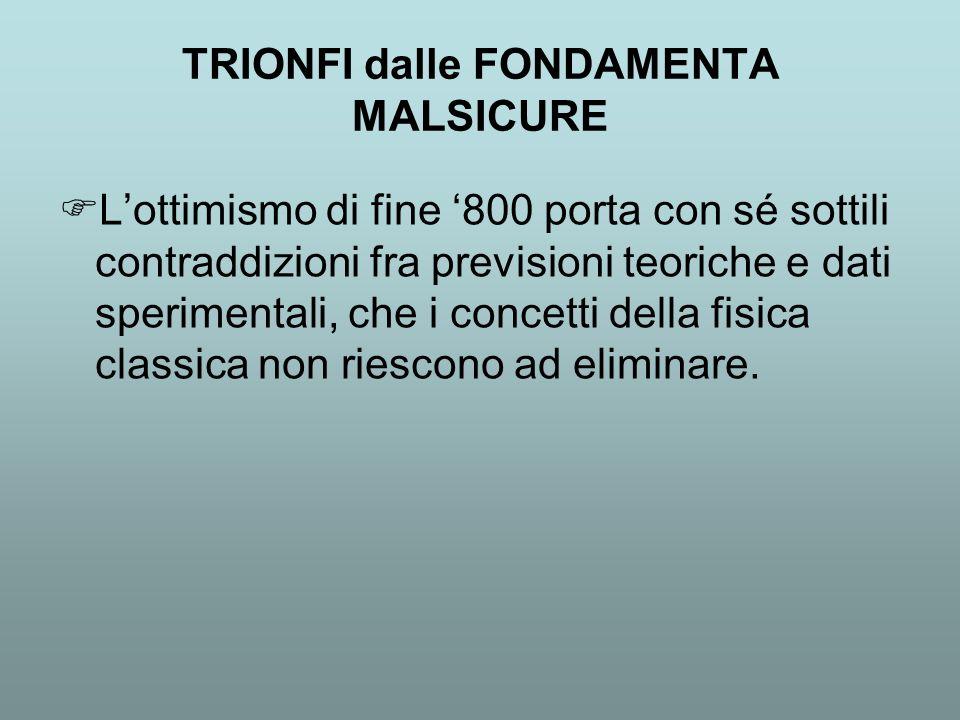TRIONFI dalle FONDAMENTA MALSICURE