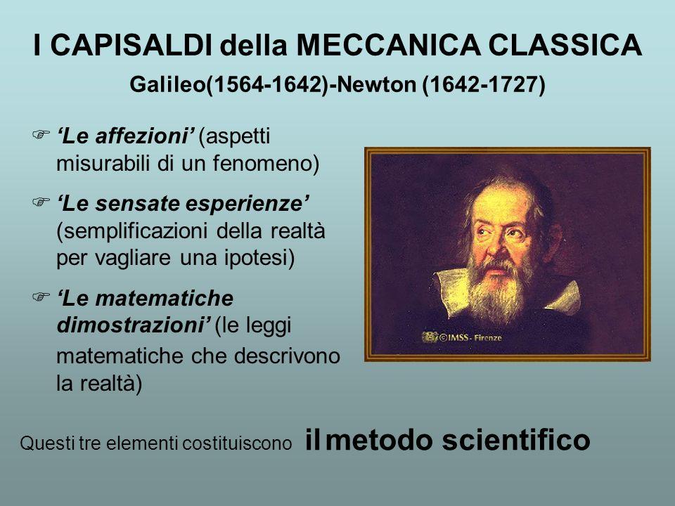 I CAPISALDI della MECCANICA CLASSICA Galileo(1564-1642)-Newton (1642-1727)