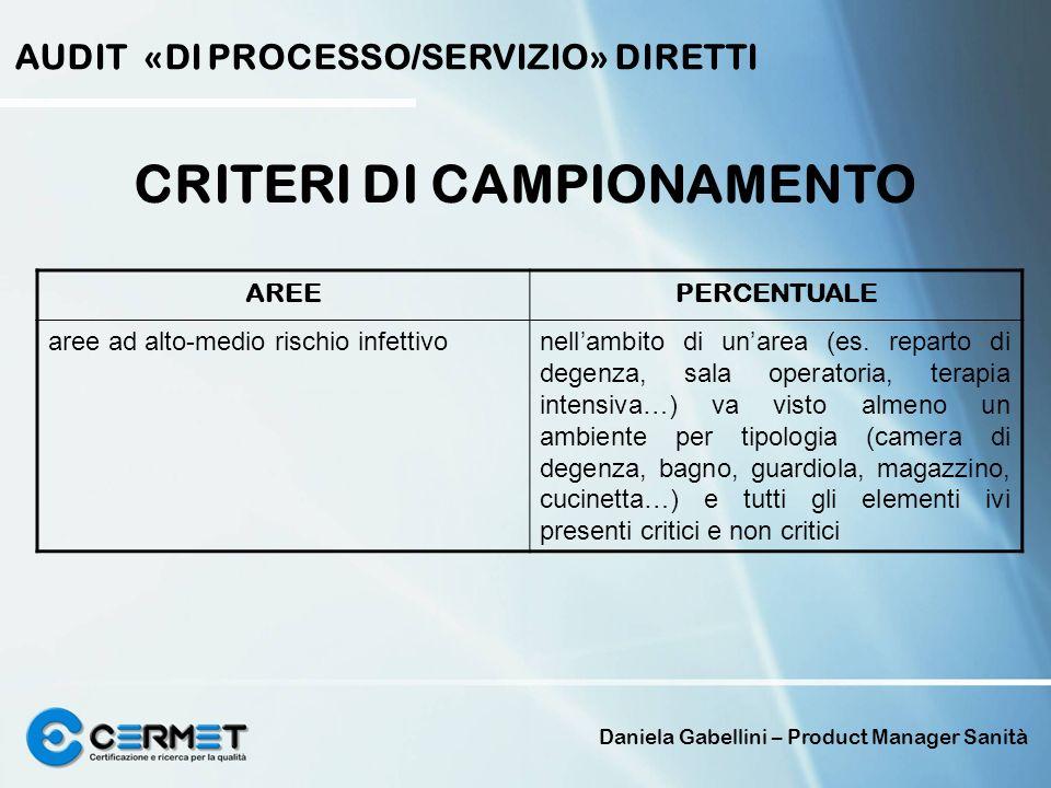 CRITERI DI CAMPIONAMENTO
