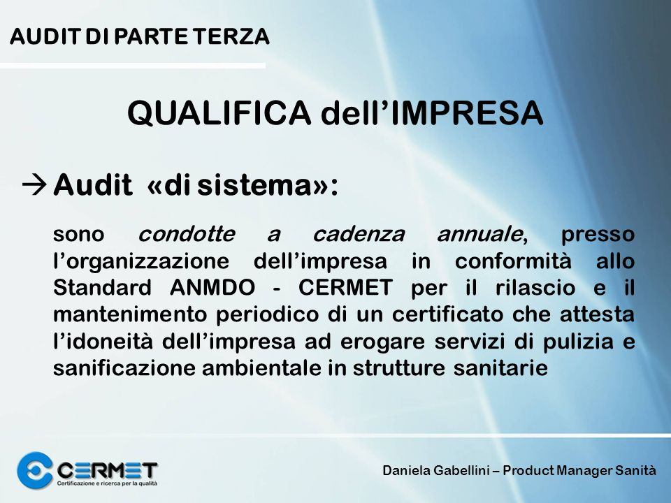 QUALIFICA dell'IMPRESA