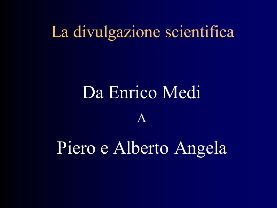 La divulgazione scientifica