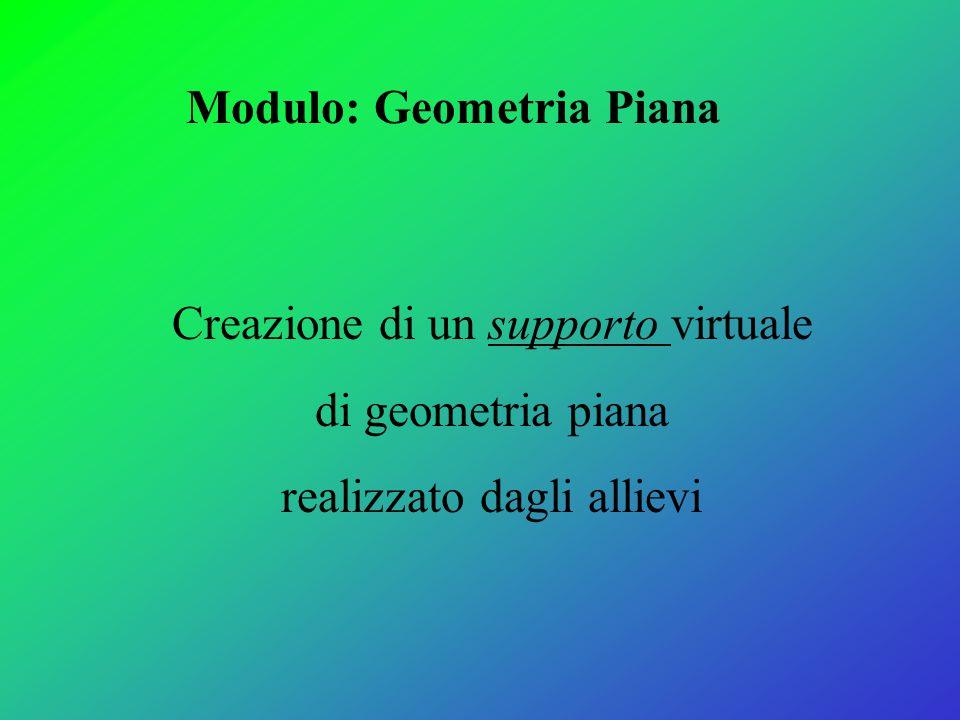 Modulo: Geometria Piana
