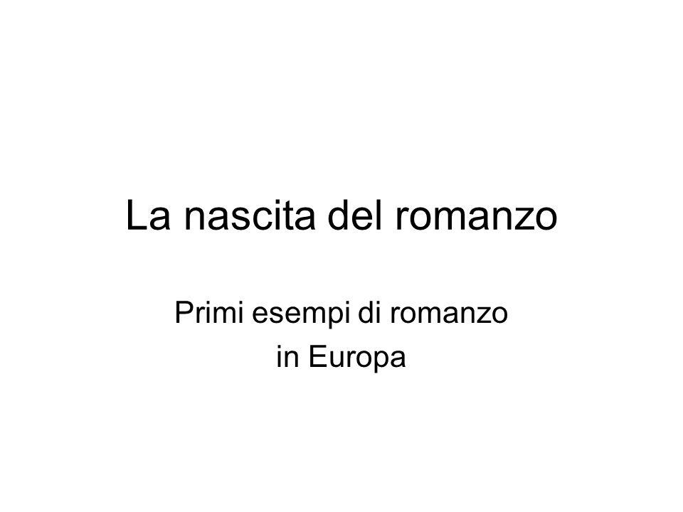Primi esempi di romanzo in Europa