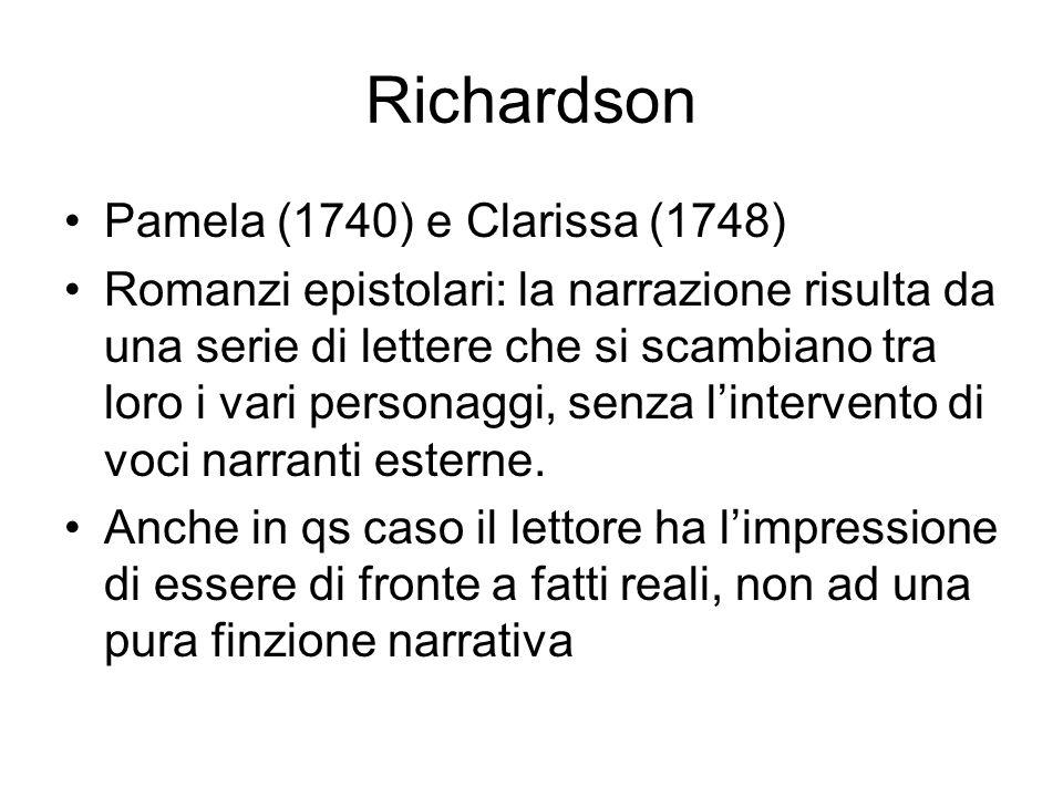 Richardson Pamela (1740) e Clarissa (1748)