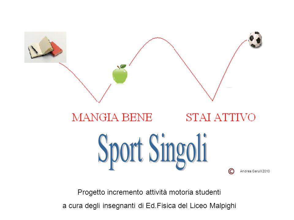 Sport Singoli Progetto incremento attività motoria studenti