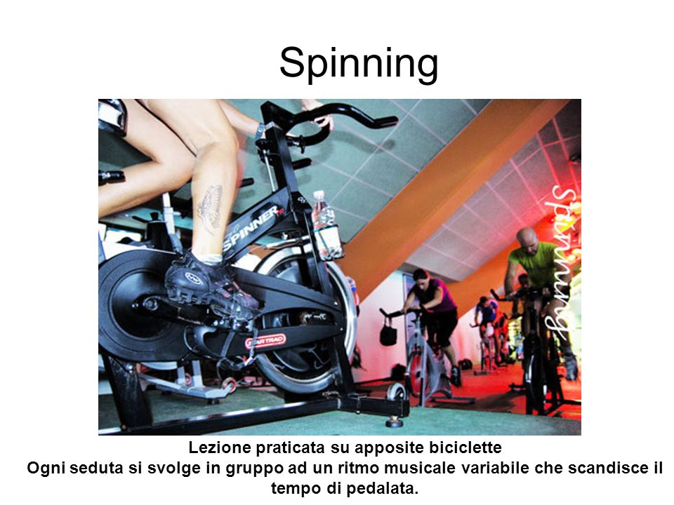 Lezione praticata su apposite biciclette
