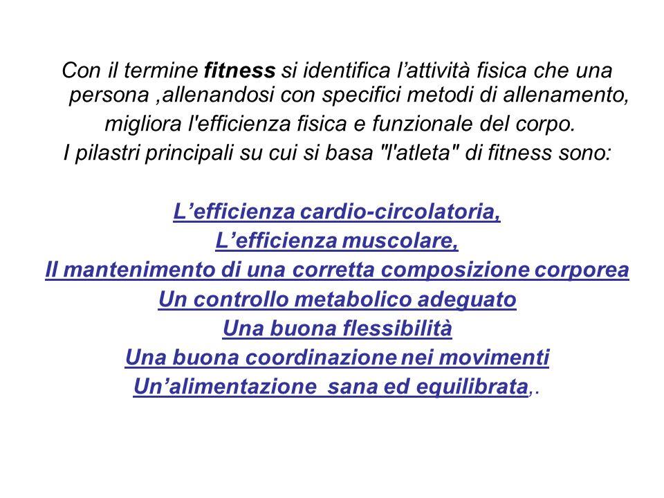 migliora l efficienza fisica e funzionale del corpo.
