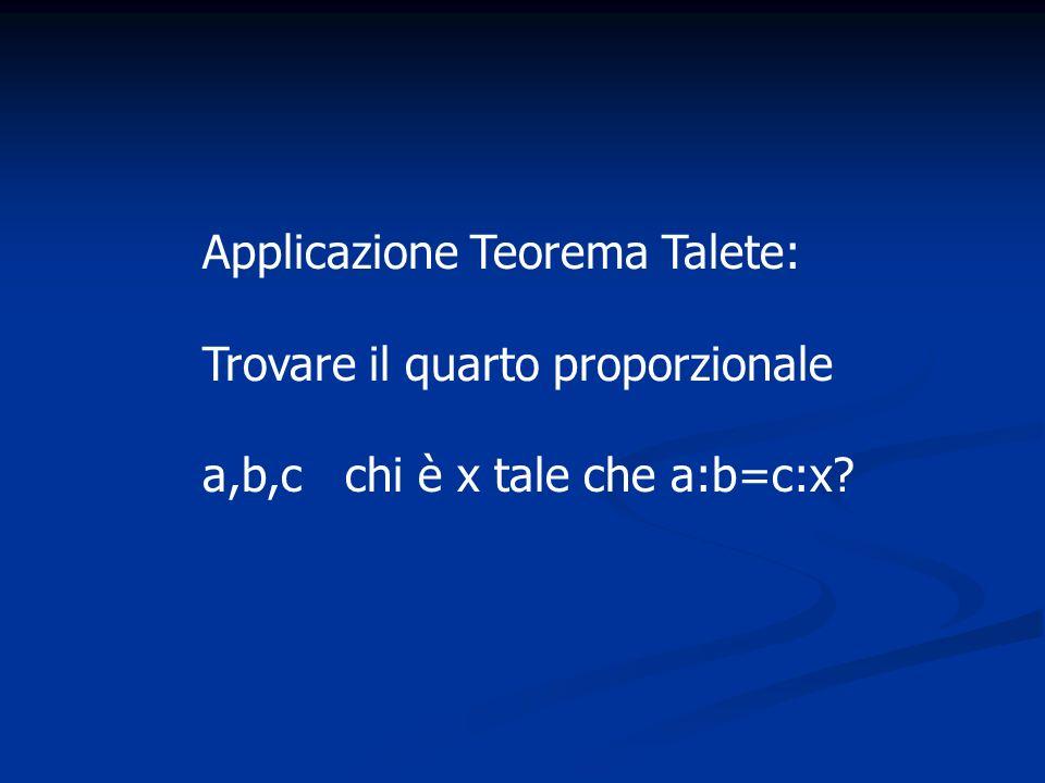Applicazione Teorema Talete: