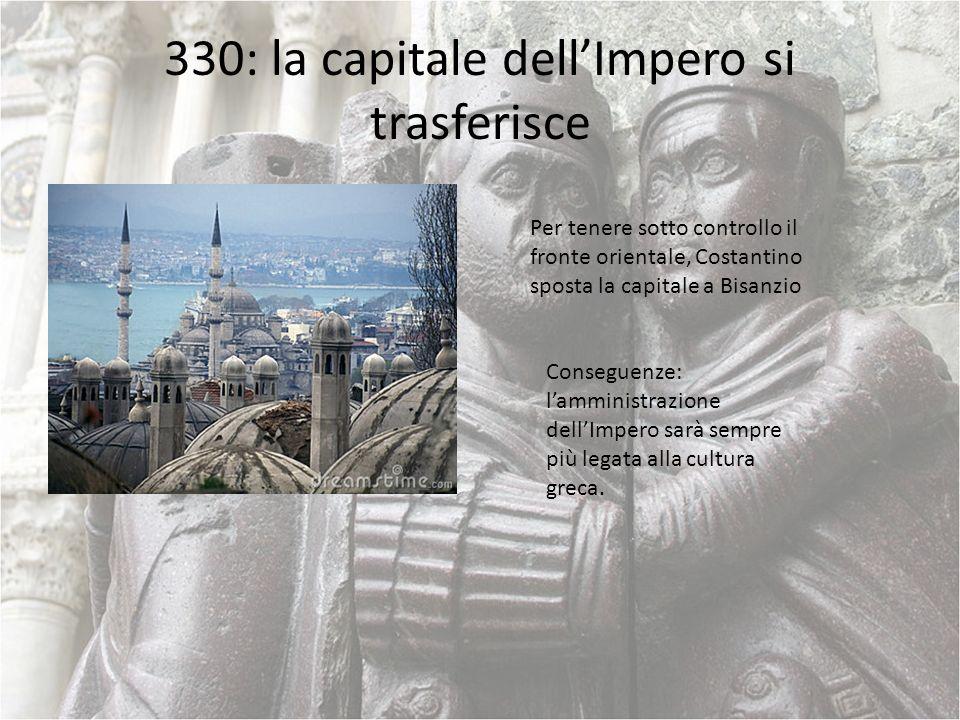 330: la capitale dell'Impero si trasferisce