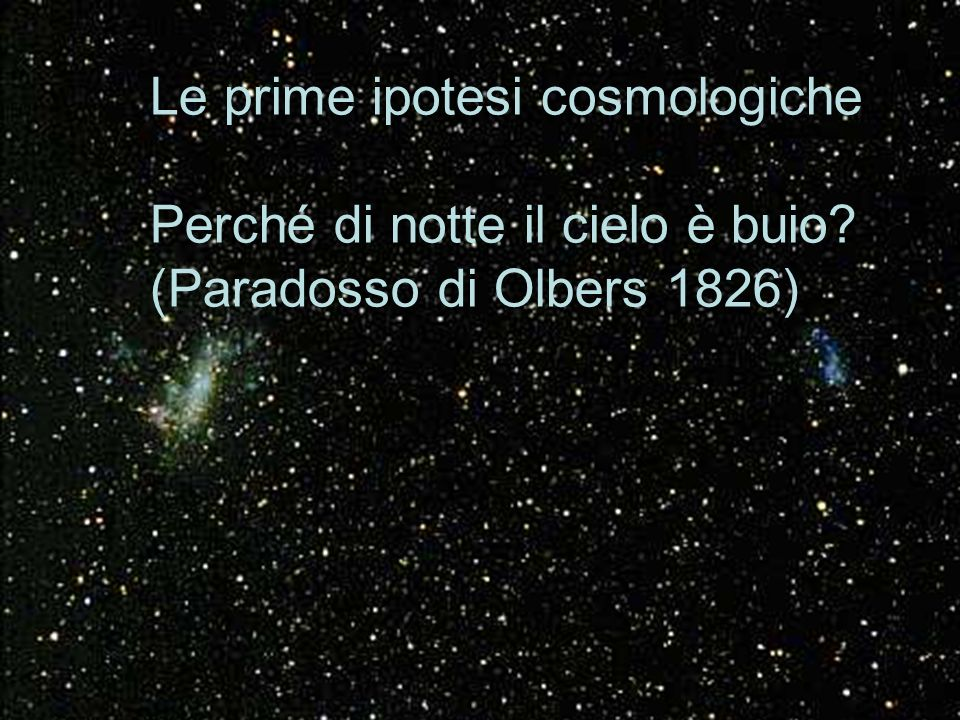 Le prime ipotesi cosmologiche