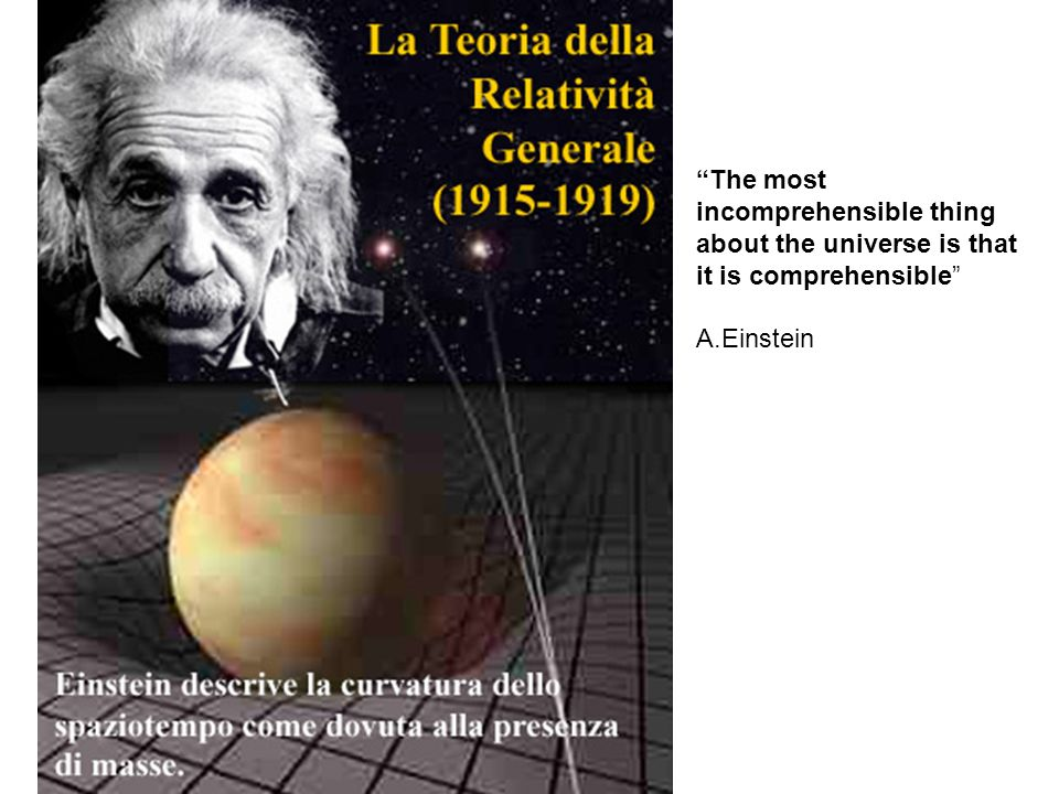 The most incomprehensible thing about the universe is that it is comprehensible